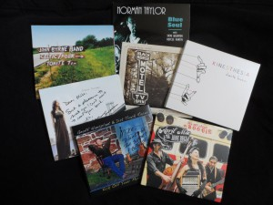 Here are some of the CDs from artists who attended the Philadelphia Folksong Society music co-op at the Keswick Theatre.
