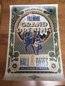 In addition to the poster created by Bonnie MacLean, this poster was also given to fans who attended the first show at the Fillmore. (Photo by Mike Morsch)