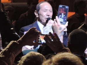 Paul Anka goes into the crowd at the New Jersey Performing Arts Center. (Photo by Mike Morsch)