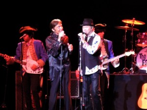 "Mark Lindsay, left, of Paul Revere and the Raiders, and Mickey Dolenz of the Monkees performed the ""50 Summers of Love"" show July 27, 2017, at the Mayo Center for Performing Arts in Morristown, N.J. (Photo by Mike Morsch)"