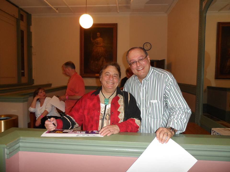 Eddie Brigati of the Rascals and the author. (Photo by Judy Morsch)
