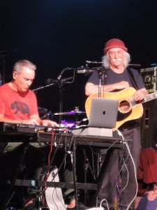 David Crosby and his son, keyboardist James Raymond. (Photo by Mike Morsch)