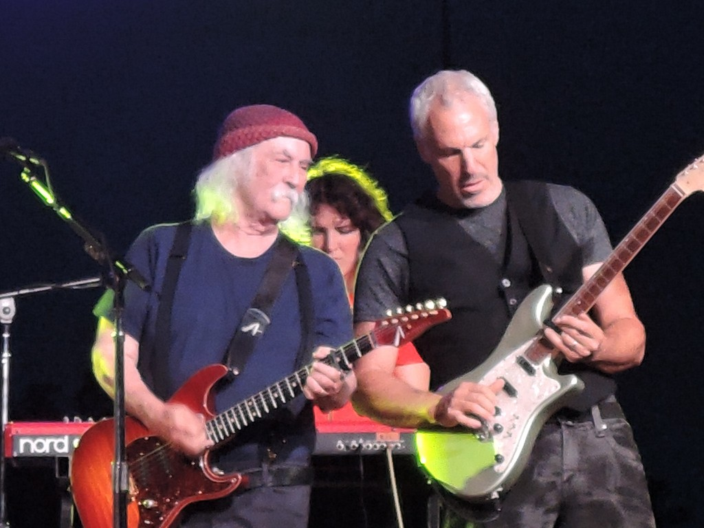 David Crosby has surrounded himself with brilliant musicians, including lead guitarist Jeff Pevar. (Photo by Mike Morsch)