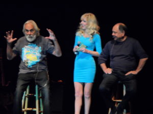 Tommy Chong, his wife Shelby Chong, and Cheech Marin performed at the Keswick Theatre in Glenside, PA, in October 2013.
