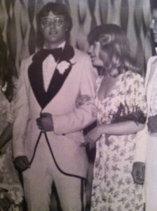 The only known picture to exist of Mike and Sue as members of the prom court at the 1976 junior/senior prom at Pekin Community High School.