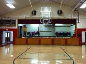 This is the stage at Rankin Grade School at it appears today. Leo's TV sat in the middle of that stage in 1968 so students could watch World Series games between the St. Louis Cardinals and Detroit Tigers. (Photo by Carole Delahunt)