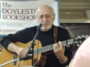 "Peter Yarrow of Peter, Paul and Mary was at the Doylestown Bookshop on Nov. 10, 2014, to promote his new book, ""Peter Paul and Mary: Fifty Years in Music and Life."" (Photo by Mike Morsch)"