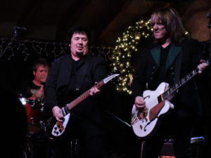 The Empty Hearts performed Dec. 3 at the Havana in New Hope, PA. From left, Clem Burke on drums, Wally Palmar on guitar and Andy Babiuk on bass. (Photo by Mike Morsch)