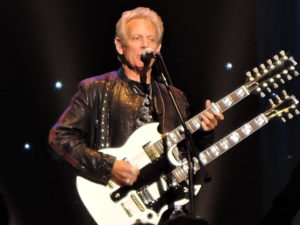 "Former Eagles lead guitarist Don Felder brings out his 12-string guitar for the encore of ""Hotel California"" at his solo show March 21, 2015, at the State Theatre in New Brunswick, N.J. (Photo by Mike Morsch)"