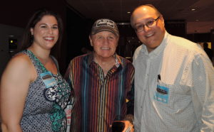 After the Borgata show, we got to meet Bruce. That's daughter Kiley, Bruce and the author.