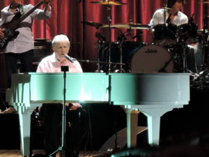 """Brian Wilson sings """"Surfer Girl"""" at his show on June 29, 2015, at the Mann Center for the Performing Arts in Philadelphia. (Photo by Mike Morsch)"""