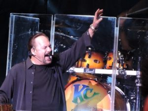 Harry Wayne Casey - a.k.a. KC of KC and The Sunshine Band - belts out one of his classic dance tunes Aug. 8, 2015, at the Tropicana in Atlantic City. (Photo by Mike Morsch)