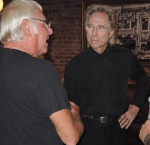 Gary Puckett, right, speaks with Sandy Deanne of Jay and The Americans before the show. (Photo by Mike Morsch)