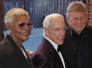 Dionne Warwick, Jerry Blavat and Bobby Rydell arrive at the Philadelphia Music Alliance Walk of Fame gala Oct. 26 at the recently opened Fillmore Philadelphia.  (Photo by Mike Morsch)