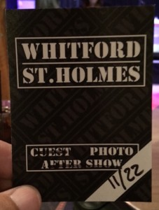 The media credential for Sunday night's Whitford St. Holmes show at Havana in New Hope, PA. (Photo by Mike Morsch)