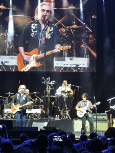 The big screen overlooks Daryl Hall and John Oates on July 10, 2016, at the BB&T Pavilion in Camden, N.J. (Photo by Mike Morsch)