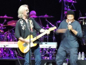 "Chubby Checker joined Daryl Hall and John Oates on stage to perform ""The Twist."" (Photo by Mike Morsch)"