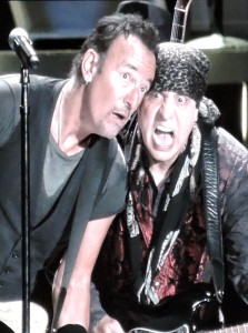 Bruce Springsteen and Little Steven Van Zandt rock out at Citizens Bank Park in Philadelphia Sept. 7, 2016. (Photo by Mike Morsch)