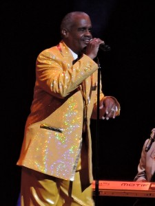 Russell Thompkins Jr., the original lead singer of The Stylistics, performed at the Festival of Soul Nov. 25, 2016, at the New Jersey Performing Arts Center in Newark, N.J. (Photo by Mike Morsch)
