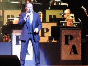 Paul Anka knows how to stand in front of a band during his Dec. 16, 2016, performance at the New Jersey Performing Arts Center in Newark. (Photo by Mike Morsch)