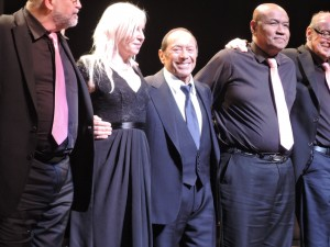 Paul Anka and his band take a bow after the show. (Photo by Mike Morsch)