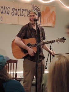 John Hall, co-founder of the band Orleans, performed a solo gig on Earth Day, April 22, 2017, at the Philadelphia Folksong Society in Roxborough, Pennsylvania. (Photo by Mike Morsch)