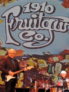 Frank Jeckell, co-founder of the 1910 Fruitgum Company and the only original member still performing in the band, plays lead guitar at the Sixties Spectacular concert April 29, 2017, at the State Theatre in New Brunswick, N.J. (Photo by Mike Morsch)