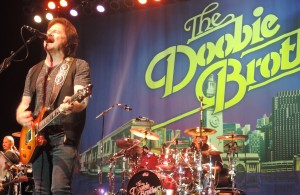 Guitarist and lead singer Tom Johnston of the Doobie Brothers rocks the encore on Nov. 4 at the Sands Casino in Bethlehem, Pennsylvania. (Photo by Mike Morsch)