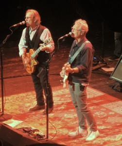 Dewey Bunnell, left, and Gerry Beckley celebrated their 48th year with the band America in 2018. (Photo by Mike Morsch)
