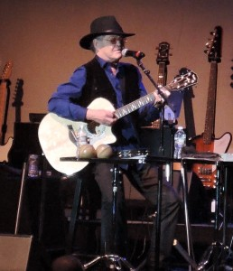 "Mickey Dolenz on the guitar during ""The Mike and Micky Show."" (Photo by Mike Morsch)"