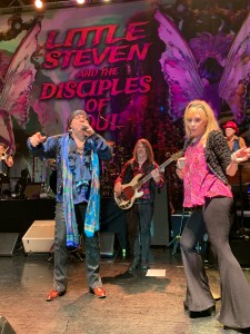 "Stevie's wife, Maureen Van Zandt, joined him onstage to dance the ""Soul Power Twist."" (Photo by Mike Morsch)"