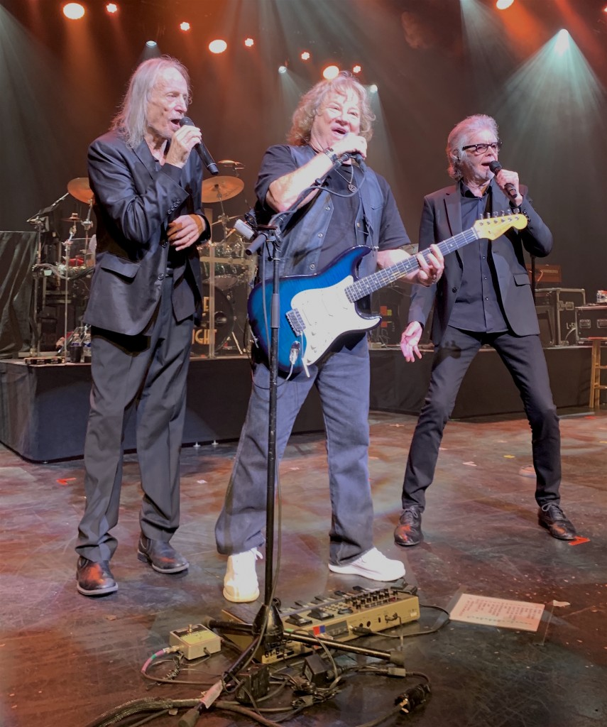 From left to right, David Morgan, Michael Allsup and Danny Hutton of Three Dog Night. (Photo by Mike Morsch)